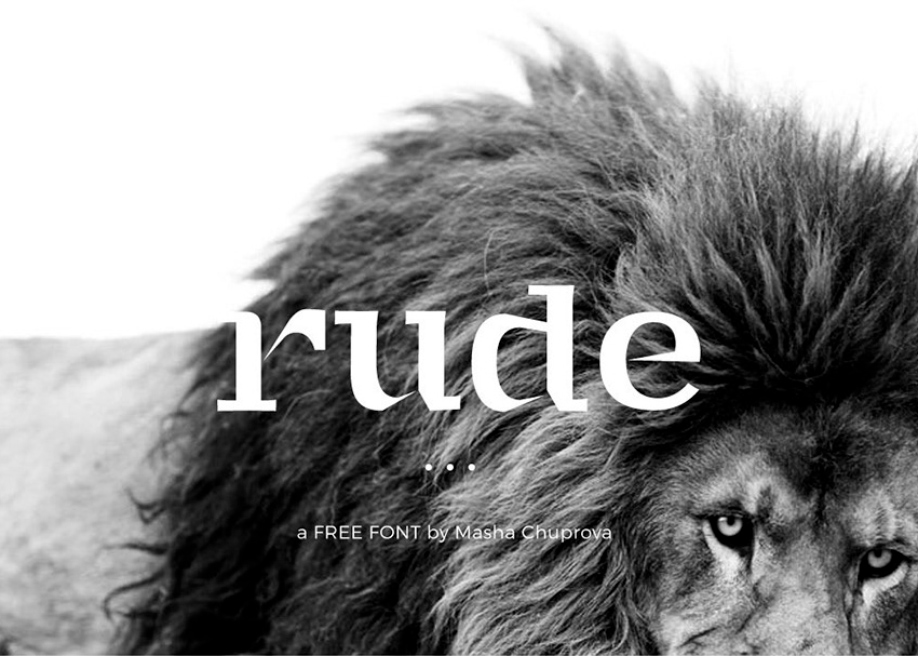 rude font,web font,web site,mobile app